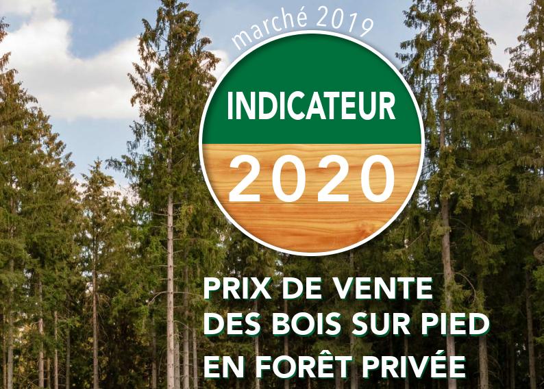 Indicateur 2020 des prix des bois sur pied en forêt privée